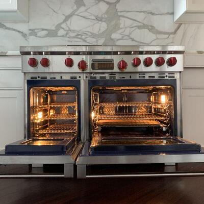 Wolf 48″ Dual Fuel Professional Range with Six (6) Burners and Infrared Griddle, Model # DF486G