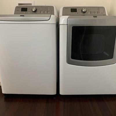 Maytag Bravos XL Series Top Loading Washing Machine, Model # MVWB980BW0, and Maytag Bravos XL Dryer, Model # MEDB980BW0