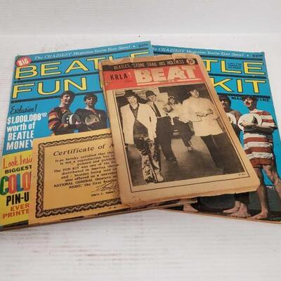 #7102 • Two 1964 Beatle Fun Kit And Two 1967 Krla Beat Magazine