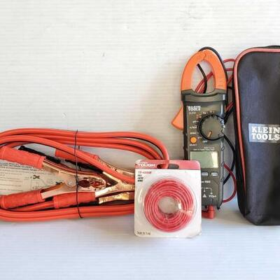 #1002 • Klein Tools Digital Clamp Meter, Jumper Cables, And 16-Gauge Red Auto Wire LIVE IN 16d 21h 15min