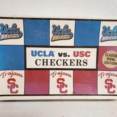 #7154 • Usc Vs Ucla Checkers, And Usc Christmas Ornaments