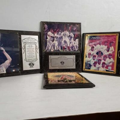 #7158 • Angels World Series Plaques, And Angels Clock