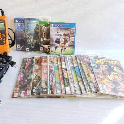 1014	 Auto Scanner, Charger, Marvel Comic Books, And Video Games Auto Scanner, Charger, Marvel Comic Books, And Video Games OS16-168282.3