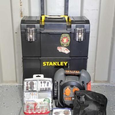 1200	 Stanley Detachable Tool Box, Dremel Kit, Black+Decker Jump-Start, Socket, And More Stanley Detachable Tool Box, Dremel Kit,...