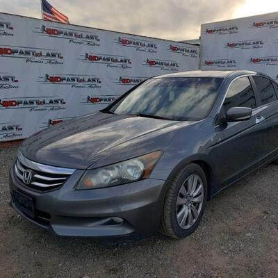 Year: 2012 Make: Honda Model: Accord Vehicle Type: Passenger Car Mileage: 157895 Plate: Body Type: 4 Door Sedan Trim Level: EX Drive...