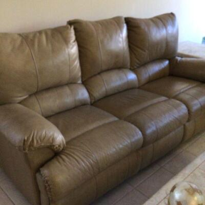 Sofa and matching electric recliner not shown