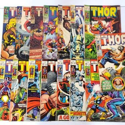 250	 The Mighty Thor Comic Books Issues 155-172 Includes Issues Numbers 155, 156, 157, 158, 159, 160, 161, 162, 163, 164, 165, 166, 169,...