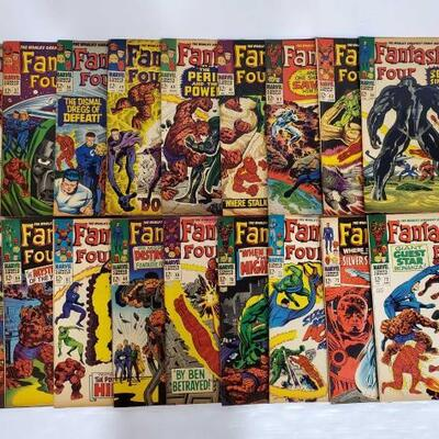 238	 18 Fantastic Four Comic Books No. 56-73 Issues are consecutive. Issues include 56, 57, 58, 59, 60, 61, 62, 63, 64, 65, 66, 67, 68,...