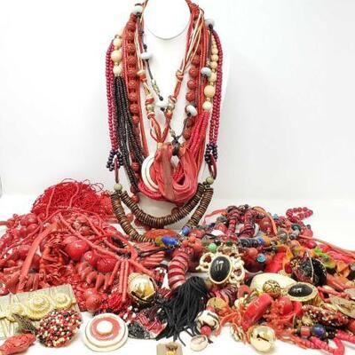 110	 Costume Jewelry Includes Necklaces, Bracelets, Earrings, Pins, And More