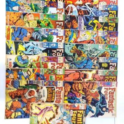 240	 Fantastic Four ComicBook Issues 74-105 Includes Issues 74, 75, 76, 77, 79, 80, 81, 82, 83, 84, 85, 86, 87, 88, 89, 91, And 105