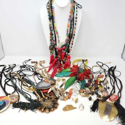 100	  Costume Jewelry Includes Necklaces, Pendant, And Cufflink