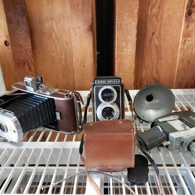 036	 Keystone K-6 Automatic Eye Camera, Polaroid Land Camera, Kodak Reflex Keystone K-6 Automatic Eye Camera, Polaroid Land Camera Model...