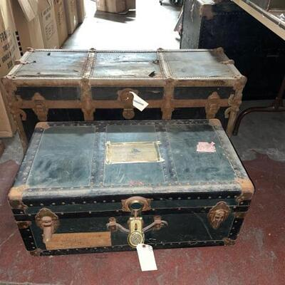 #3088 • 2 Vintage Chests/Trunks