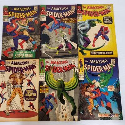204	 The Amazing Spider-Man No. 42-49 Not Consecutive Numbers. Issue Numbers Inlcude: 42, 44, 45, 47, 48, 49