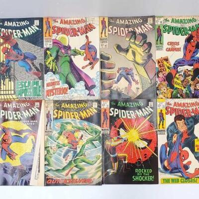 210	 The Amazing Spider-Man Comic Books Issues 64-74 Includes Issue Numbers 64, 65, 66, 67, 68, 69, 70, 71, 72, 73, 73
