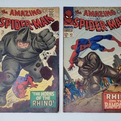 202	 The Amazing Spider-Man No. 41 and No.43 The Amazing Spider-Man No. 41 and No.43