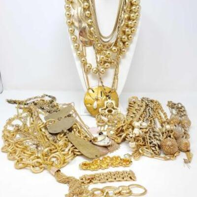 108	 Costume Jewelry Includes Necklaces And 3 Bracelets