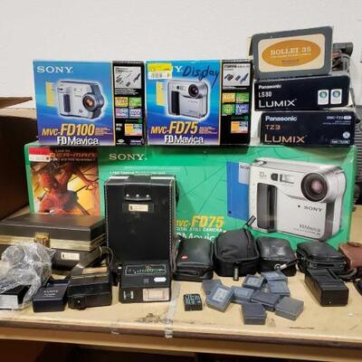 610	 Sony, Nixon, Rolliei, Panasonic Cameras, Camera Equipment Cameras, Camera Equipment
