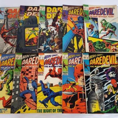 258	 10 Daredevil Comic Books No. 45-54 Issue Numbers are Consecutive. Issue Numbers Include 45, 46, 47, 48, 49, 50, 51, 52, 53, 54
