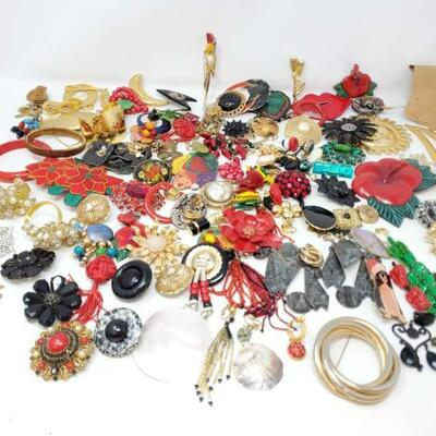 22	 Costume Jewelry Includes Pins And Earrings