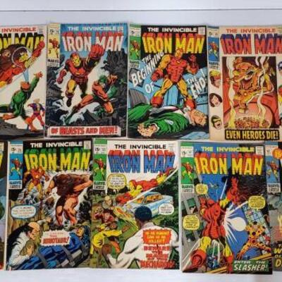230	 The Invincible Iron Man Comic Books No. 14-42 Issues are not consecutive. Ossue Numbers Include 14, 15, 16, 17, 18, 21, 22, 24, 32,...