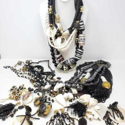 116	 Costume Jewelry Includes Necklaces, Earrings, And Pins