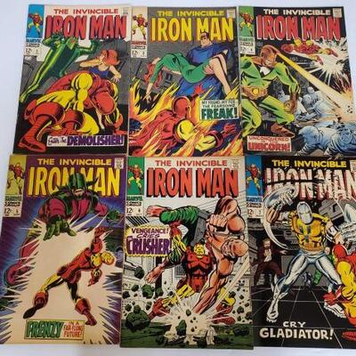 226	 The Invincible Iron Man Comic Books No. 2-7 Issues are consecutive. Issues include 2, 3, 4, 5, 6, 7