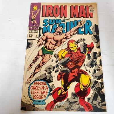 224	 Iron Man And Sub-Mariner First Issue Comic Book Iron Man And Sub-Mariner First Issue Comic Book