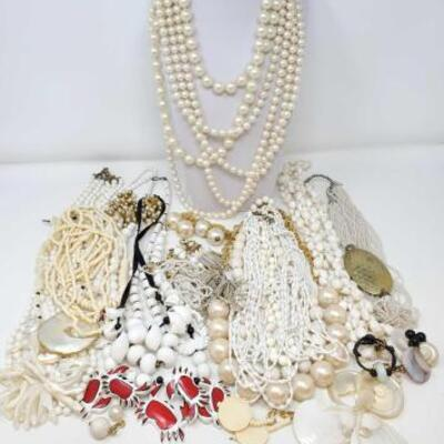 120	 Costume Jewelry Includes Necklaces, and Earrings
