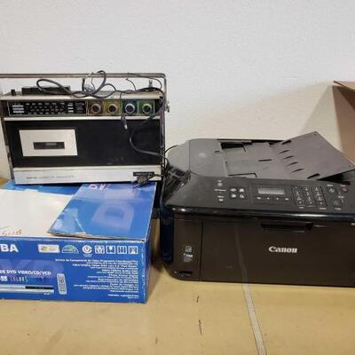 508	 Toshiba Dvd Player, Canon Multifunction Printer, Am/FM Cassette Recorder Toshiba Dvd Player, Canon Multifunction Printer, Am/FM...