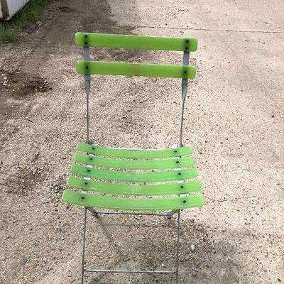 https://www.ebay.com/itm/124540573805LRM3993: Green and Gray Metal and Hard Plastic folding Chair - Pickup OnlyAuction