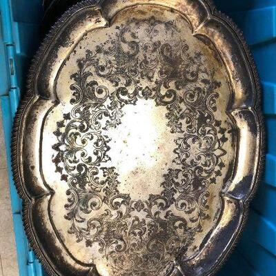 https://www.ebay.com/itm/114646826533BA5099 Cheltenham England Silver on Copper Serving Tray Platter - Local PickupAuction