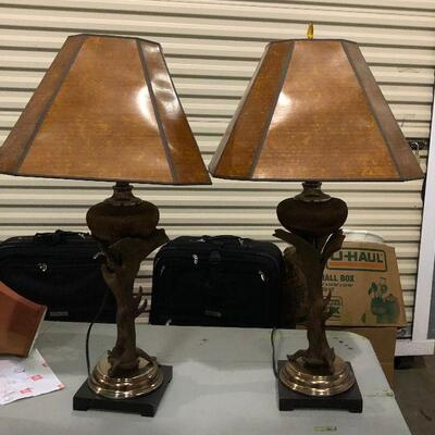 https://www.ebay.com/itm/114644987291KG0077 Pair of Eclectic Tree Style Vintage Lamps Pickup OnlyAuction
