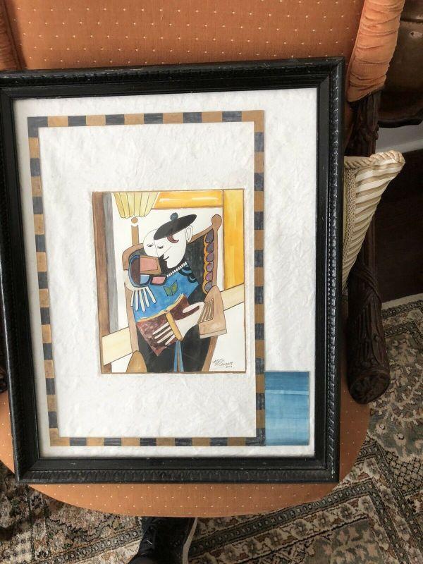 https://www.ebay.com/itm/124540530163PR4511: ME Pearson Mixed Media Framed artwork Estate Sale pickupAuction
