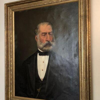 https://www.ebay.com/itm/124540535353WRG5017 British School (19th C) Bearded Gentleman, oil on Canvas 29