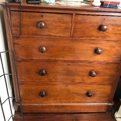 https://www.ebay.com/itm/124540545177PR0104: English Victorian Carved Mahogany Wood Dresser / Chest of Drawers Local Auction