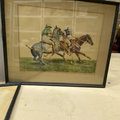 Framed Art Horses Riding Horses