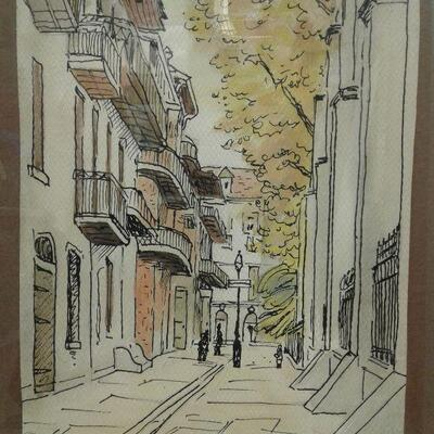 https://www.ebay.com/itm/124540511726WRG8079 Pirates Alley Harold Louis Tqaard watercolor and ink PickFixed100