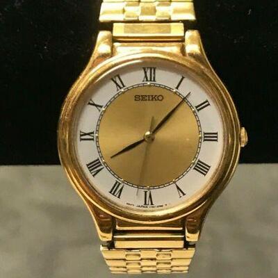 https://www.ebay.com/itm/124551935419HY011 SEIKO WATCH V701-1Y70 GOLD TONE VINTAGE 1970s WATCH Buy-it-Now  $19.99