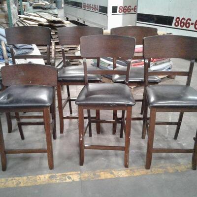 https://www.ebay.com/itm/114649988862LY8075 Deep Walnut Finish 6 Tall Barstools  Local Pickup Buy-it-Now  $99.99