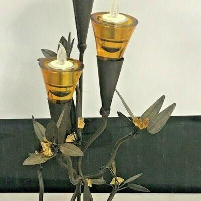 https://www.ebay.com/itm/124551935418KG010 METAL PLANT SCULPTURE WITH GLASS VOLTIVES Buy-it-Now  $19.99