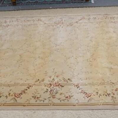 1057MOURISON CHATEAU PROVENCE COLLECTION WOOL ROOM SIZE RUG, 9 FT 9 IN X 13 FT 9 IN
