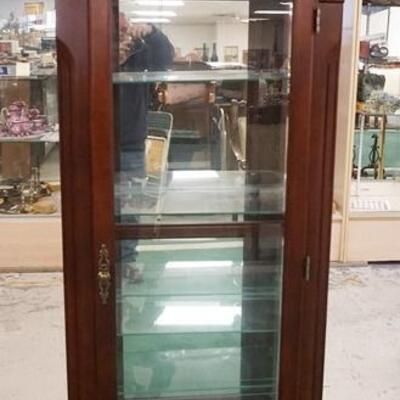 1016	CURIO CABINET, 77 1/4 IN HIGH X 28 1/2 IN WIDE X 13 IN DEEP