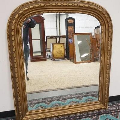 1013	CONTEMPORARY BEVELED EDGE PIER MIRROR, 46 1/4 IN X 53 1/2 IN