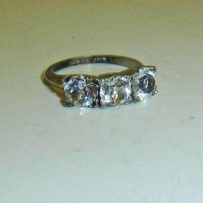 Sterling PASTE stone ring