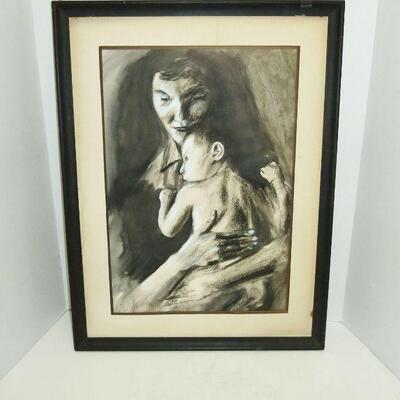 Signed COOK charcoal