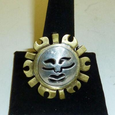 Sterling signed pin
