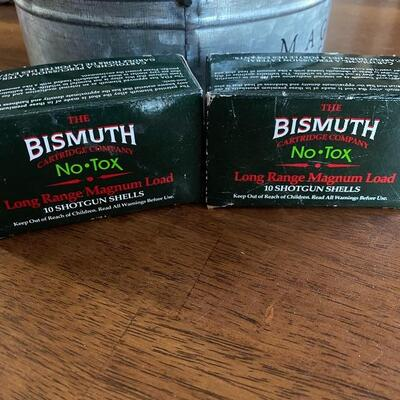 (2) Boxes of Bismuth Long Range Shot Gun Shells