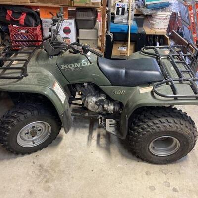 1995 Honda Fourtrax 4x4 ATV. Turns on but needs new battery. Old Fuel line that might need some attention. Great ATV!!!
