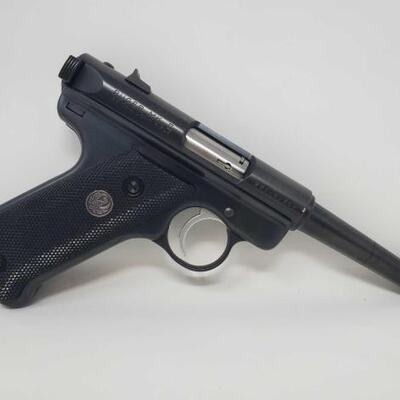 534  Ruger MKII .22LR Semi-Auto Pistol with Case NO CA Serial Number: 221-82752 Barrel Length: 4.75